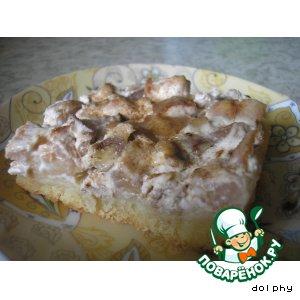 Рецепт Нежный орехово-грушевый пирог