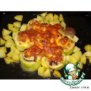 Рецепт Кабачок фаршированный мясом