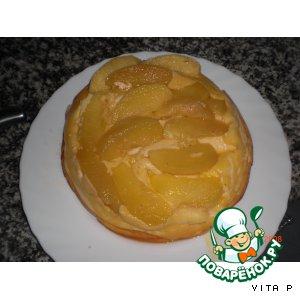 """Рецепт Пирог """"Яблоки в твороге"""""""
