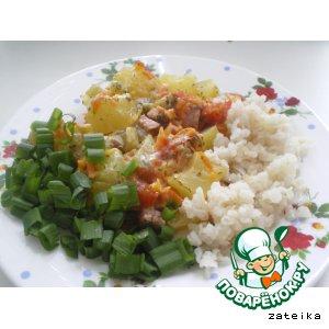 Рецепт Запеченное овощное рагу с сосисками