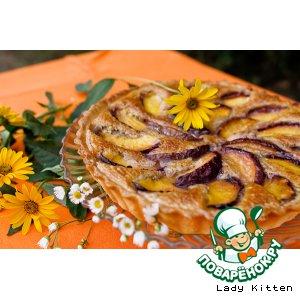 Рецепт Миндальный пирог с персиками