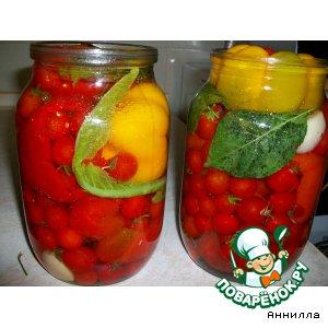 Рецепт Перец, фаршированый  помидорами черри