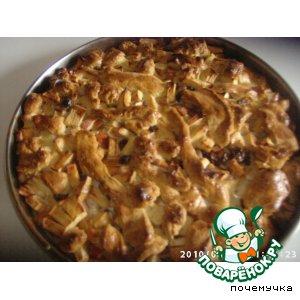 Рецепт Еврейский сметанный пирог с яблоками