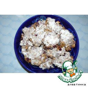 Рецепт Печенье с брусникой и яблоком