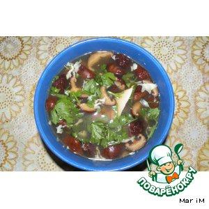 Рецепт Суп с грибами шиитаке и яйцом
