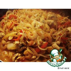 Рецепт Курица с креветками