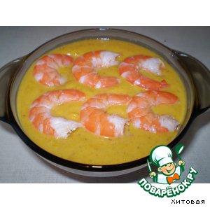 Рецепт Суп   из  тыквы с креветками
