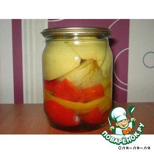 Рецепт Маринованный перец с яблоками