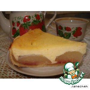 Рецепт Грушевый пирог с творожной заливкой
