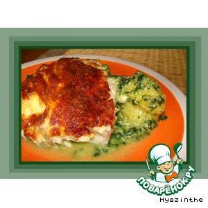 Рецепт Рыба с овощами под сырным соусом в аэрогриле