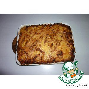 Рецепт Запеканка из картофельного пюре с фаршем