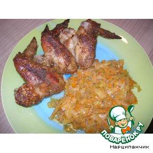 Рецепт Куриные крылышки под медово-ореховым соусом