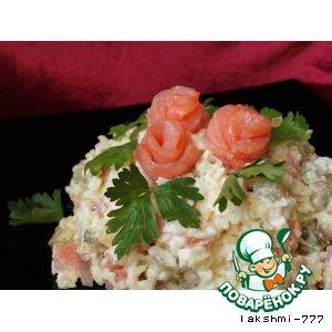 Рецепт Рисовый салат с красной рыбой