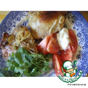 Рецепт Курица в луково-чесночно-йогуртовом соусе