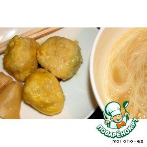 Рецепт Тсукуне/Tsukune - фрикадельки из курицы и моркови