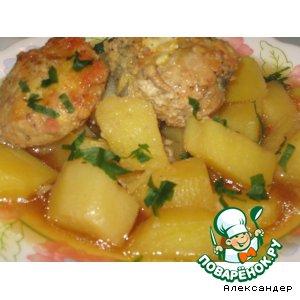 Рецепт Рыбная картошка к Гефилте-Фиш