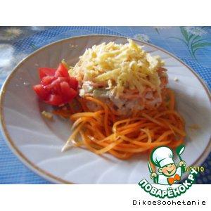 """Рецепт Салат с корейской морковью """"Соломинка"""""""