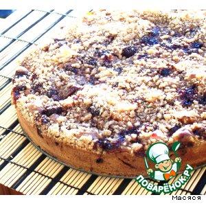 Рецепт Вишнево-яблочный пирог с крошкой