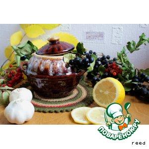 Рецепт Говядина тушеная с баклажанами в соусе из черноплодной рябины