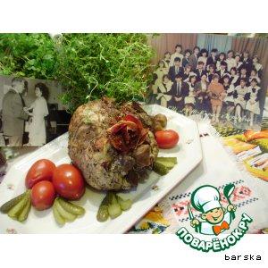 """Рецепт Буженина с лесными грибами """"Классная"""""""
