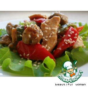 Теплый салат 'Краски осени'