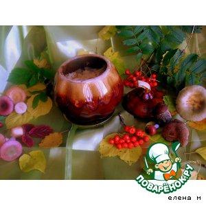 "Рецепт Говядина с овощами и  грибами ""Дары осени"""