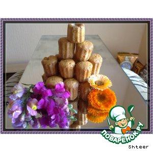 Рецепт Мини-кексы с курагой и с черносливом