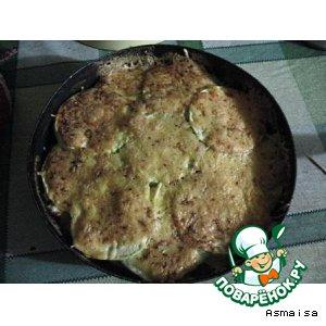 Рецепт Запеканка кабачковая слоеная с макаронами
