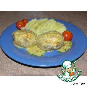 Рецепт Ленивые голубцы под белым сливочным соусом