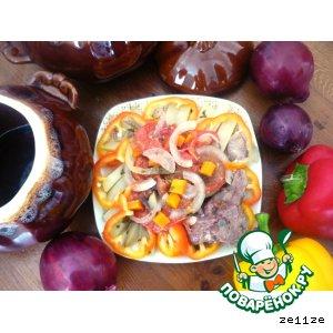 Рецепт Мясо с овощами в горшочках