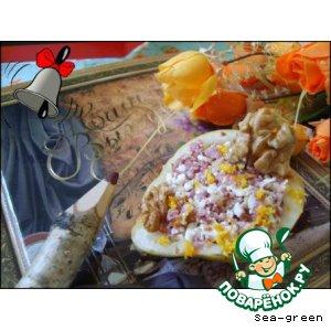 Рецепт Груши, фаршированные брынзой и говядиной