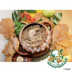 Рецепт Свинина, тушенная с редькой и луком