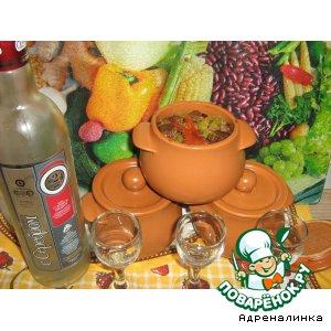 Рецепт Говядина с грибами и фасолью
