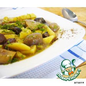 """Рецепт Суп грибной в горшочке без мяса """"Дары леса"""""""