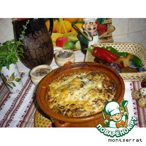 Рецепт Горшочек с рыжиками и мясными зразами под картофельной крышкой