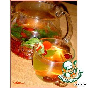 Рецепт Чайный напиток с клюквой и мелиссой