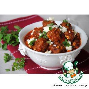 Рецепт Мясные шарики в пряном томатном соусе с фетой