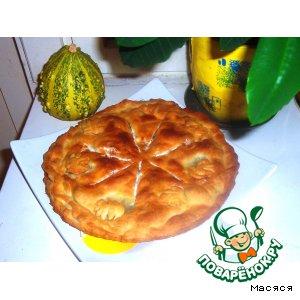 Рецепт Песочный пирог с опятами