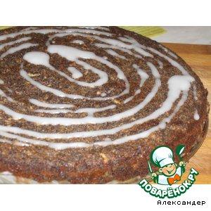 Рецепт Яблочно-маковый пирог без муки