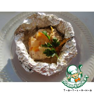 Рецепт Курица, запеченная в фольге с овощами