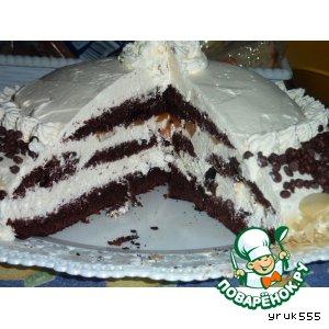 Торт шоколадно-сливочный