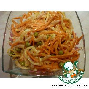 Салат острый с кальмарами рецепт с