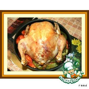 Рецепт Фаршированная курица с перцами