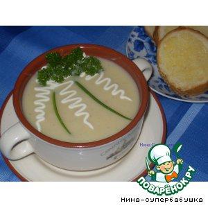 """Рецепт Суп """"Вишисуаз"""" с чесночными гренками"""