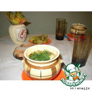 Рецепт Свинина с фасолью и тыквой в горшочке