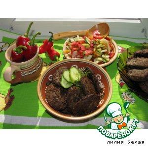 Рецепт Котлетки из индюшиной печени и грибов