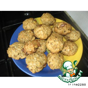 Рецепт Овсяное печенье без сахара
