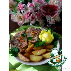 """Рецепт Запеченная свинина с  ароматным картофелем """"Субботний ужин"""""""