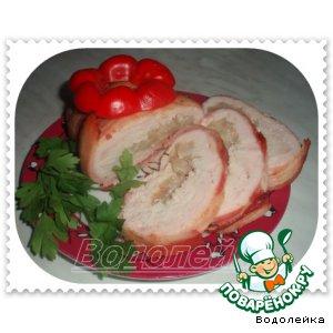 Рецепт Куриный рулет с грушами
