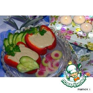 Рецепт Перец фаршированный печенью минтая с белой фасолью